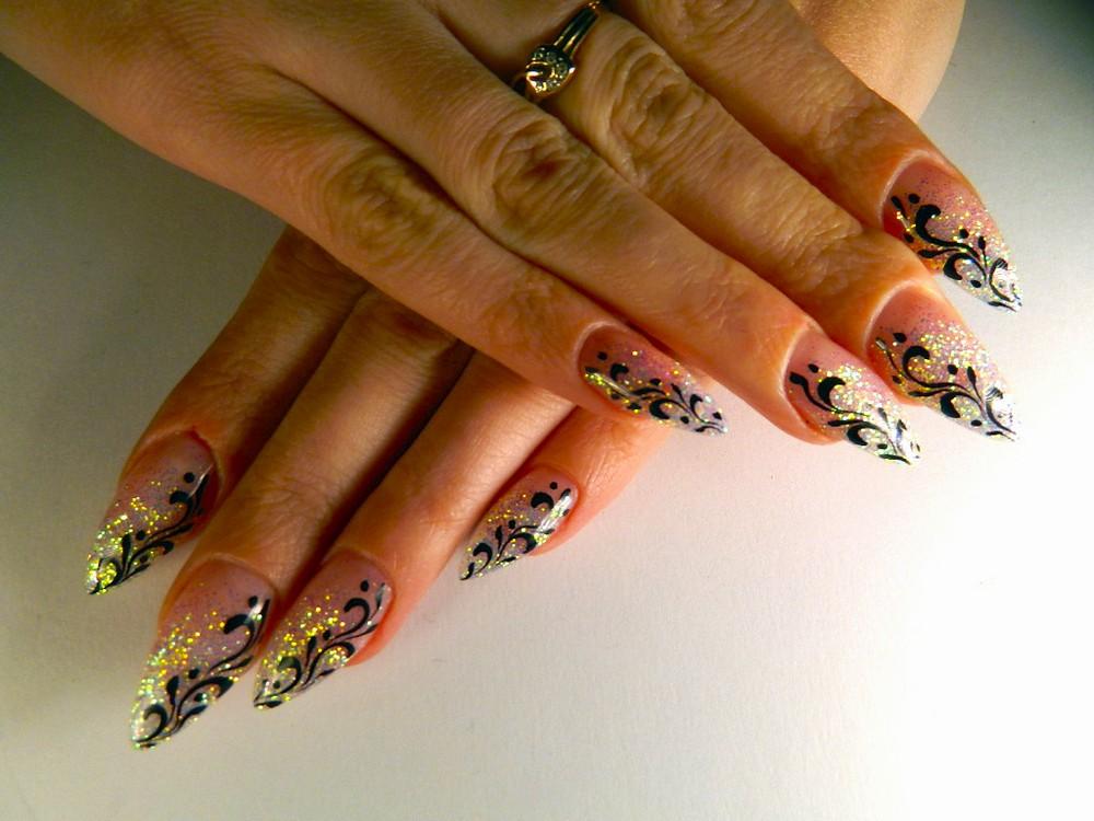Ногти дизайн с блестками